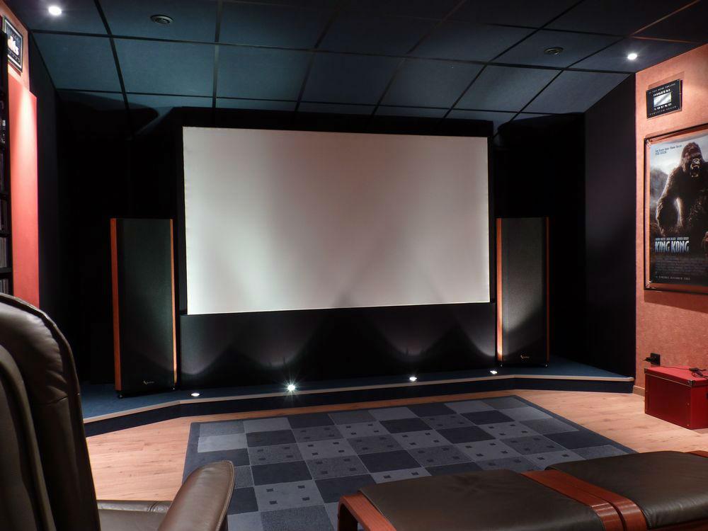 Salle home cin ma et hifi blue heaven - Home cinema maison ...